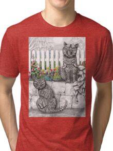 """""""Zen Cats"""" Tri-blend T-Shirt"""