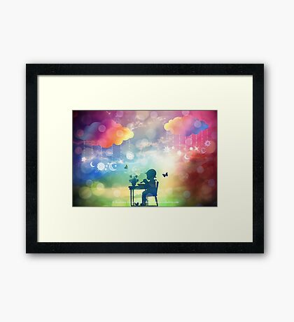 A Childhood Morning  Framed Print