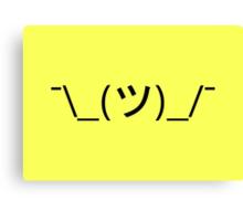 Shrug emoticon ¯\_(ツ)_/¯ Canvas Print