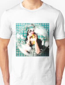 Doctor clown blowing party horn at monster party T-Shirt