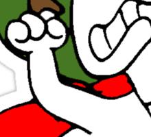 Snoopy versus Red Baron Sticker