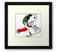 Snoopy versus Red Baron Framed Print