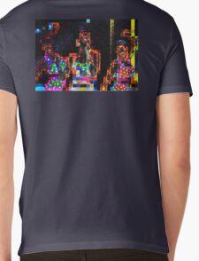 SUPERBOWL beach girls, abstract pixel art, flipped photo Mens V-Neck T-Shirt