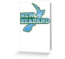 NEW ZEALAND map with NZ Greeting Card
