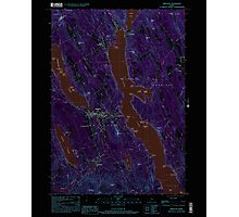 Maine USGS Historical Map Bridgton 104965 2000 24000 Inversion Photographic Print