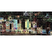 SUPERBOWL halftime, beach girls, abstract pixel art, flipped photo Photographic Print