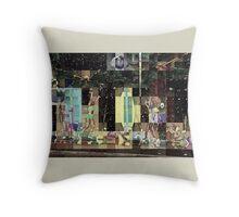 SUPERBOWL halftime, beach girls, abstract pixel art, flipped photo Throw Pillow