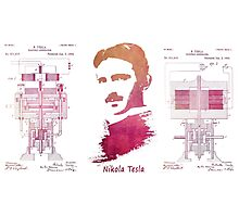 Nikola Tesla - Apparatus for aerial transportation Photographic Print