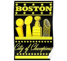 Boston - City of Champions (Gold) Poster