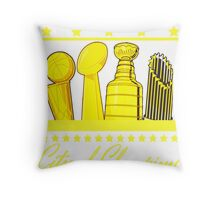 Boston - City of Champions (Gold) Throw Pillow