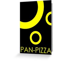 Pan-Pizza Bubbles Greeting Card
