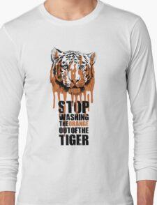 White Tiger Fraud (For Light Backgrounds) Long Sleeve T-Shirt