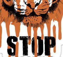 White Tiger Fraud (For Light Backgrounds) Sticker