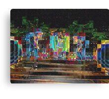 2015 SUPERBOWL ART, flipped photo, beach girls Canvas Print