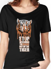 White Tiger Fraud (For Dark Backgrounds) Women's Relaxed Fit T-Shirt
