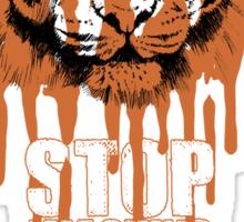 White Tiger Fraud (For Dark Backgrounds) Sticker