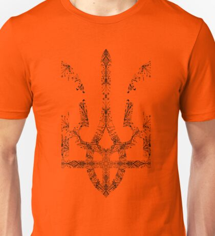 Pray For Ukraine - Ukrainian Trident Coat of Arms Unisex T-Shirt