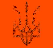 Pray For Ukraine - Ukrainian Trident Coat of Arms T-Shirt