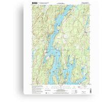 Maine USGS Historical Map Bristol 104967 2000 24000 Canvas Print