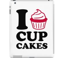 I love cupcakes iPad Case/Skin
