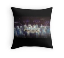 Electric blue, halftime Superbowl 2015, abstract modern, panoramic,  flipped photo Throw Pillow