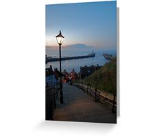 Whitby from the Abbey Steps at Sunset Greeting Card