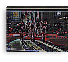 HALFTIME Superbowl ART, flipped photo, pixels Canvas Print