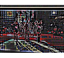 HALFTIME Superbowl ART, flipped photo, pixels Photographic Print