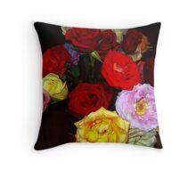 My Roses 5 Throw Pillow