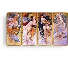 'The Four Seasons' by Alphonse Mucha (Reproduction) Canvas Print