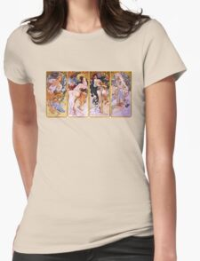 'The Four Seasons' by Alphonse Mucha (Reproduction) Womens Fitted T-Shirt