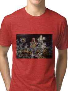 HALFTIME, the tin man abstract, flipped photo Tri-blend T-Shirt