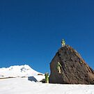 Mt Hood Oregon Meets Haystack Rock by Dan Jesperson