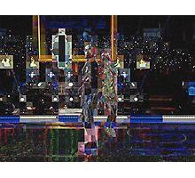 SUPERBOWL halftime 2015, Lenny Kravitz ART, flipped photo abstract Photographic Print