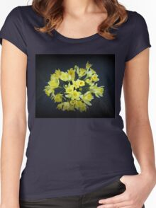 Daffodils Reaching Out Women's Fitted Scoop T-Shirt