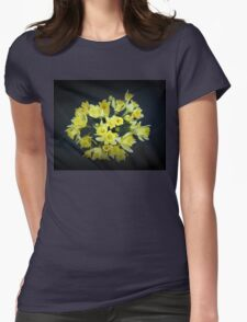 Daffodils Reaching Out Womens Fitted T-Shirt