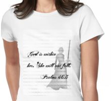 God is within her Womens Fitted T-Shirt