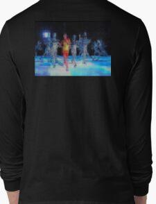 Ten Men, halftime singers, abstract pixel art, Superbowl 2015 Long Sleeve T-Shirt