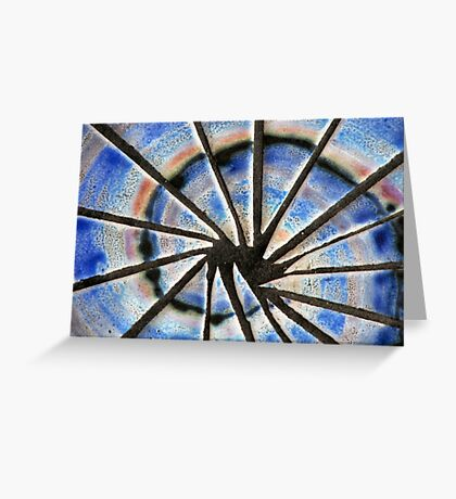 Blue Abstract Mosaic Greeting Card