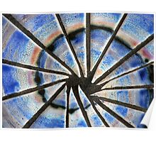 Blue Abstract Mosaic Poster