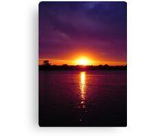Fall Sunset  Canvas Print