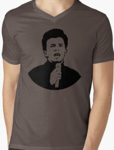 Rick Astley (Black) Mens V-Neck T-Shirt
