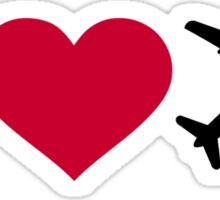 I love airplanes Sticker