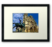 Notre-Dame Cathedral, Reims, France Framed Print