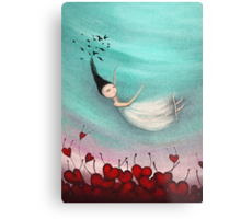 Love is a soft place to fall Metal Print