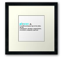 Zodiac Definitions: Pisces Framed Print