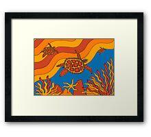 Goorlil - (turtle) lalin season (summer) Framed Print