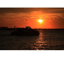 NY Water Taxi Photographic Print