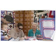 (Local Quilter's Guild) What a beautiful lesson a young mother is teaching her son on Valor! Poster