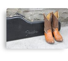 Boots and Guitars  Canvas Print